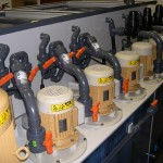 Vertical Sealless Pump fitted to a Horizontal Spray Etch Machine for the pcb industry